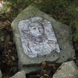 11 images of the Beebe Family emerge from the stones
