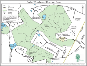 Beebe Woods Map