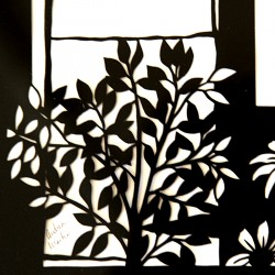 Cut Paper installation in the back hall