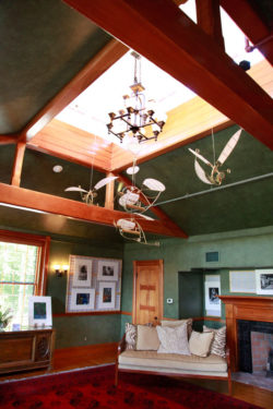 Billiard Room ceiling with mobile