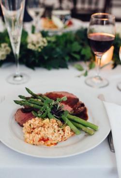 Wedding dinner catered